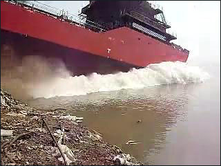 Big splash during the launch